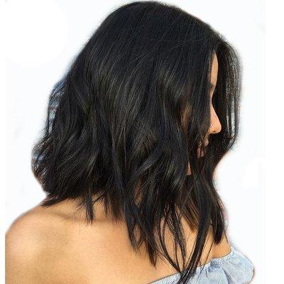 Wavy Bob Full Lace Frontal 13*6 Wig Virgin Human Hair 150% density can be dyed