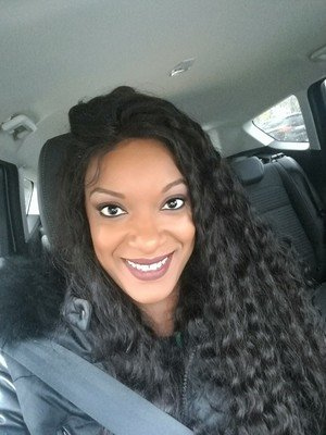 Deep curly Full Lace Frontal 13*6 Wig Human Hair With Baby Hair Can be dyed