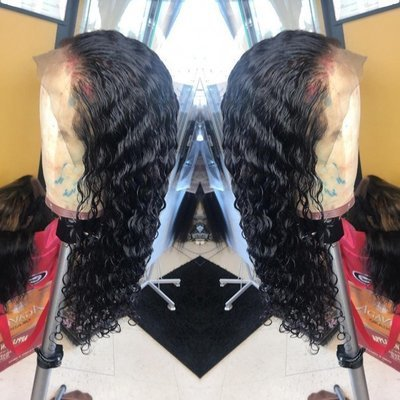 360 Lace Frontal Wig Water Wave Pre-Plucked Human Hair 150%-250% Density with Baby Hair