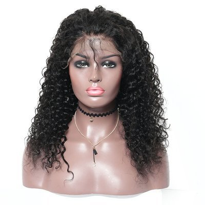 Italian Culry Full Lace Frontal 13*6 Wig Human Hair With Baby Hair Can Be Dyed
