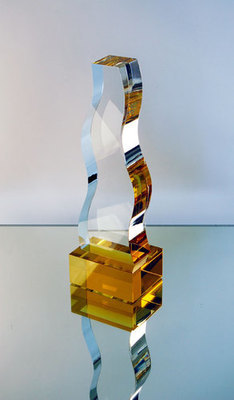 Top Agency Award Crystal Trophy