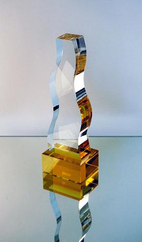 Top Agency Award Crystal Trophy
