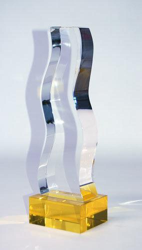 Gold Crystal Trophy