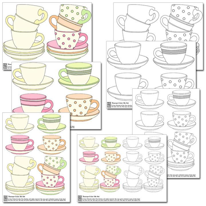 Teacups Color Me Set
