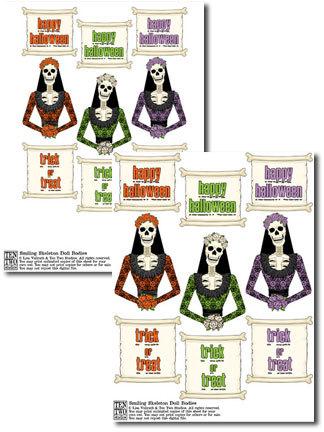 Smiling Skeleton Doll Bodies