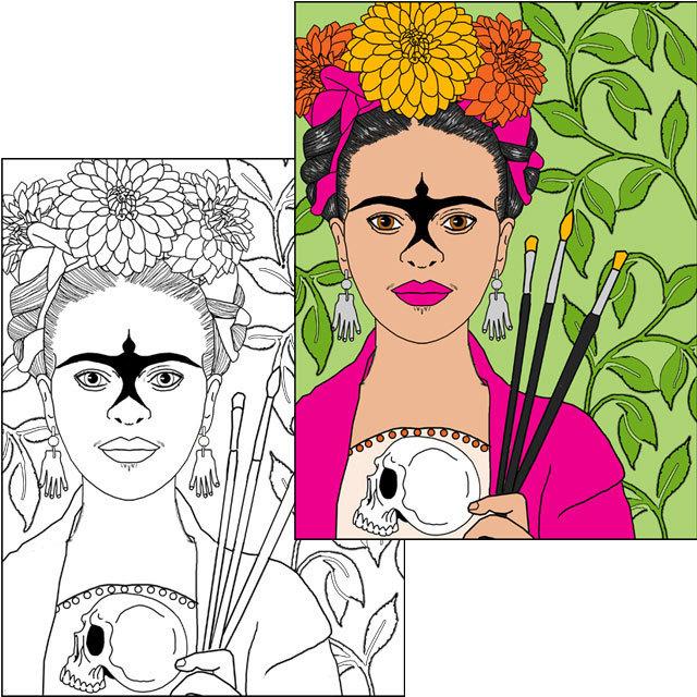 La Pintora Coloring Page