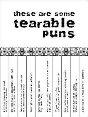 Black & White Tearable Pun Sign