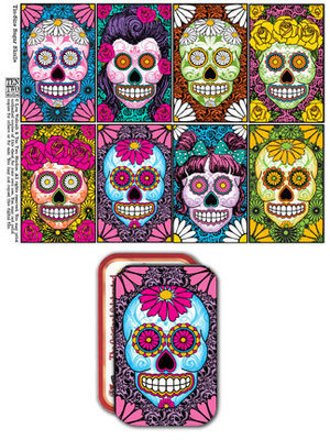 Tin-Sized Sugar Skulls