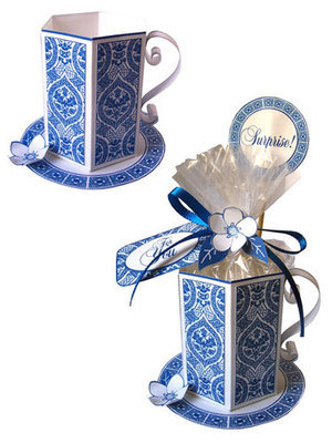 Blue Tea Cup Set