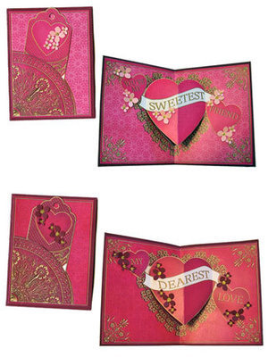 Gilded Hearts Pop-Up Card