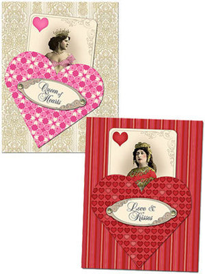 Queen of Hearts Cards & Pockets