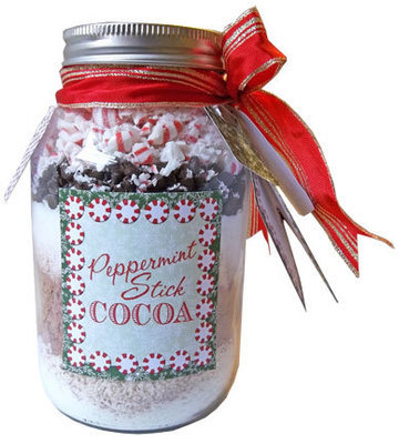 Peppermint Stick Cocoa Jars