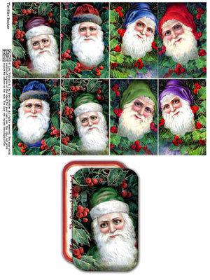 Tin-Sized Santas