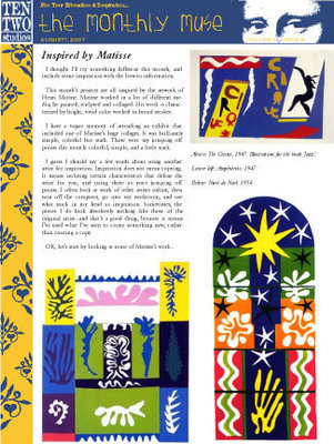 August – Inspired by Matisse