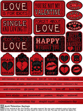 Anti-Valentine Sayings