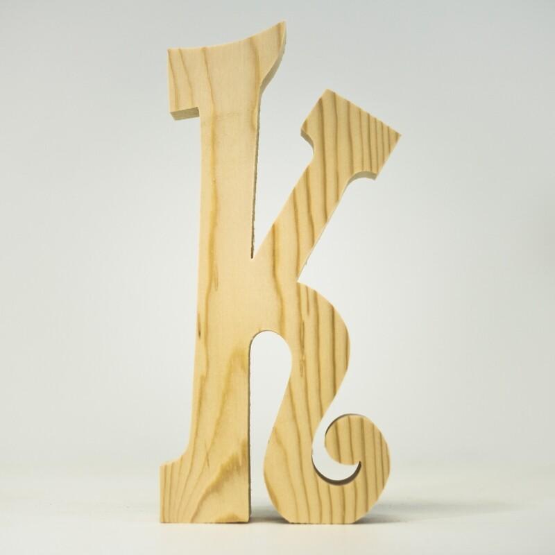 Alphabet - Fancy Lowercase - K