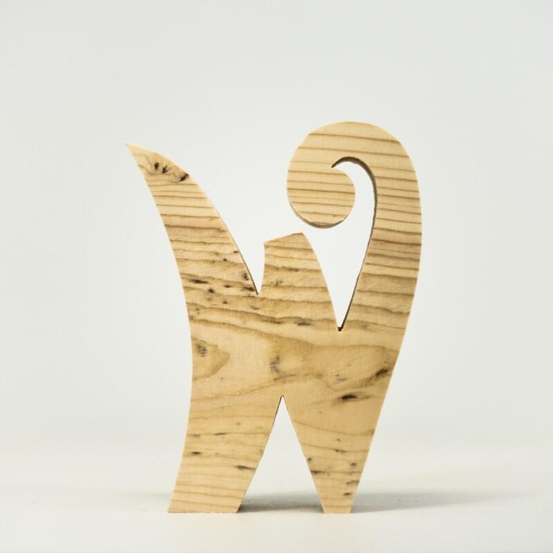 Alphabet - Fancy Lowercase - W