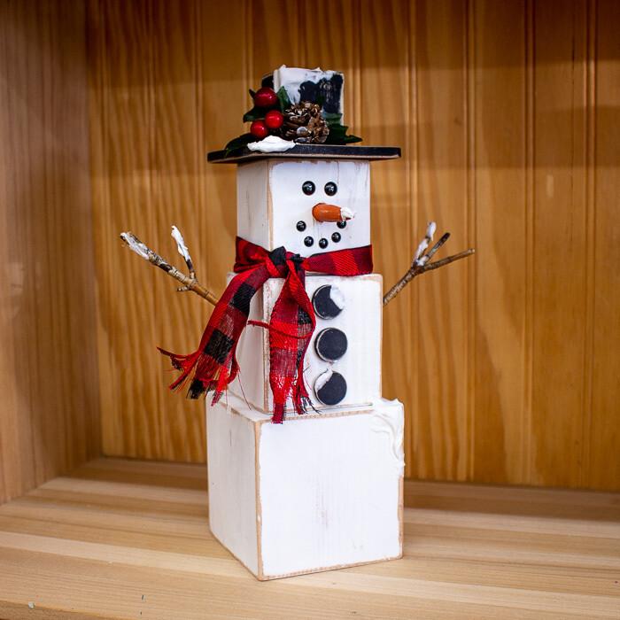 Frosty Block Snowman
