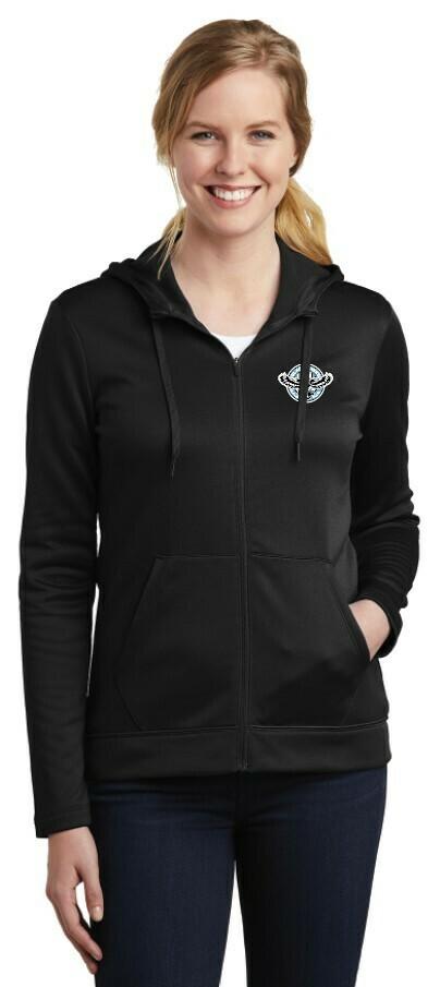 Blackhawks Women's Nike Therma-FIT Full Zip Fleece Hoodie (2 Colors)
