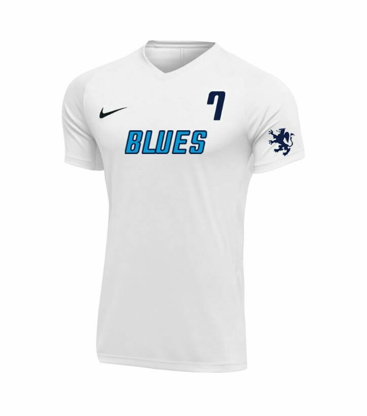 Blues FC Girls White Game Jersey