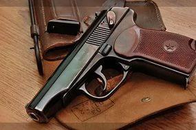 Охолощенный пистолет Макаров-СО, 10ТК (пластиковая рукоять)