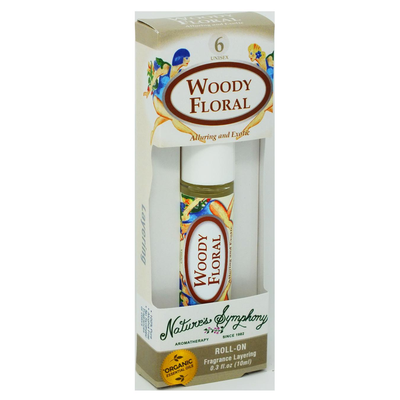 Woody Floral #6, Roller Ball, Blend Organic/Wildcraft - 10ml