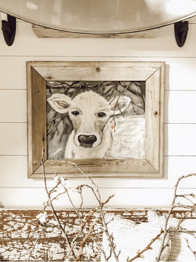 Faith Original Cow Painting Print
