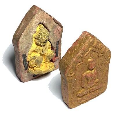 Khun Phaen Prai Kumarn Pim Yai 2515 BE Nuea Wan Sabu Luead Pasom Khaw Hniaw Sukh Hlang Hanuman & Certificate Luang Phu Tim Free EMS