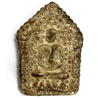 Khun Phaen 2515 LP Tim 2nd Prizewinner Nuea Pong Prai Kumarn & Certificate 50 Gold Takrut 300 Chanuan Beads Free Express Shipping & Gold Casing
