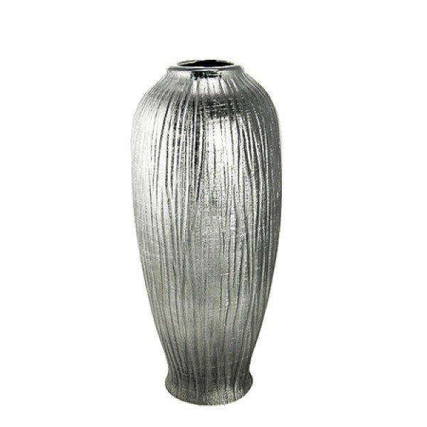 Silver Ceramic Vase