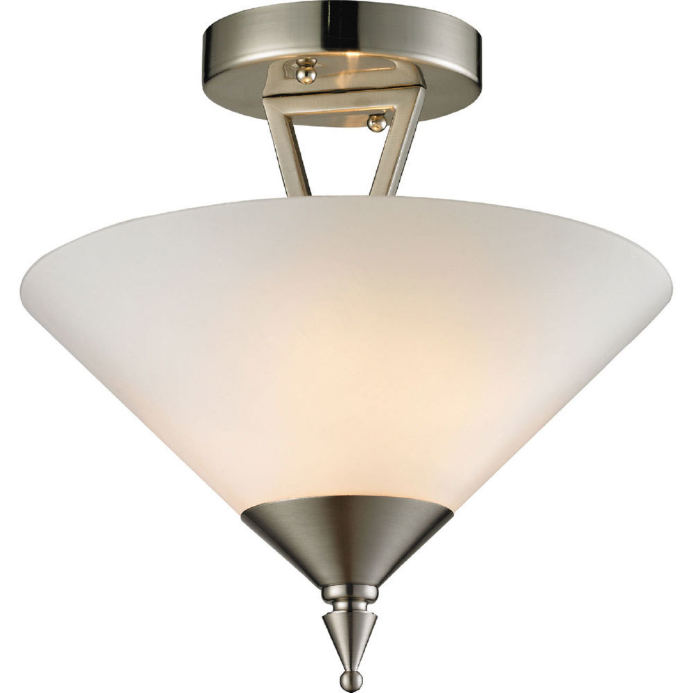 Tribecca Brushed Nickel 2 Light Semi Flush