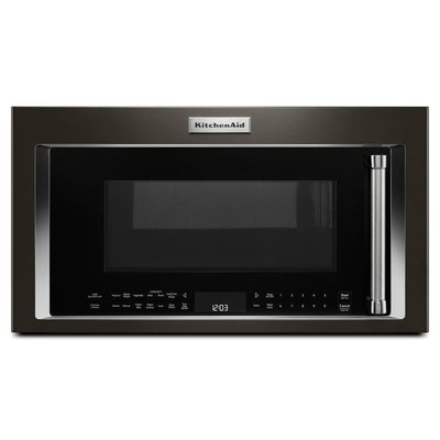 Black Stainless Steam/Convection OTR Microwave