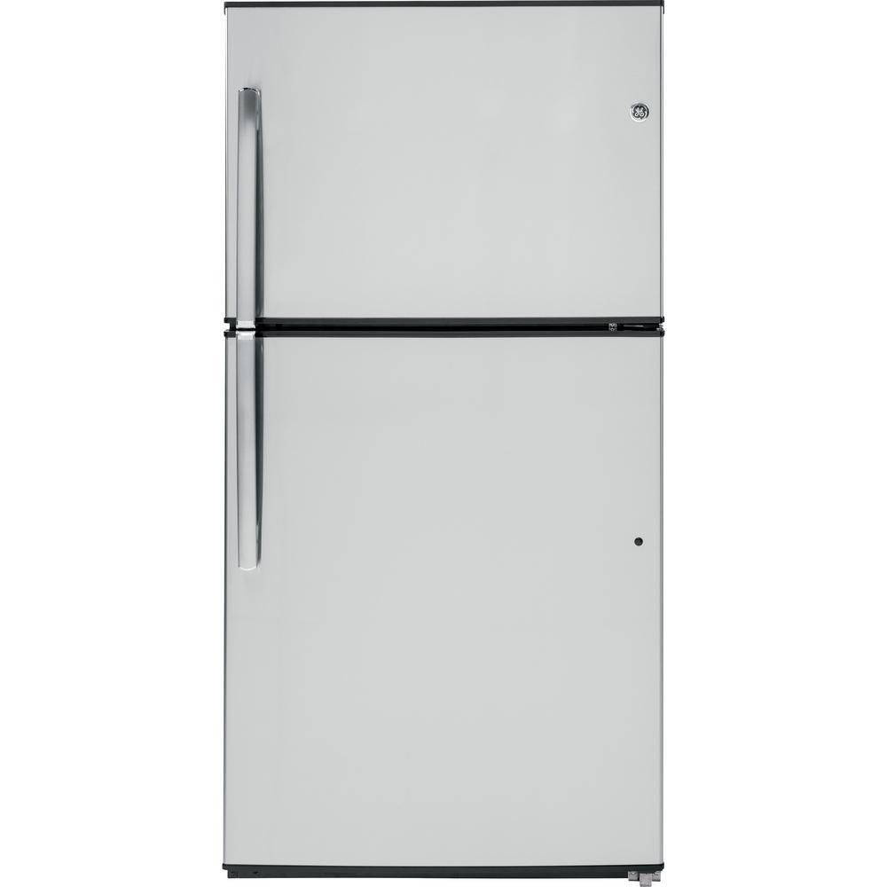 21.2 CF Top Freezer Stainless Steel Refrigerator