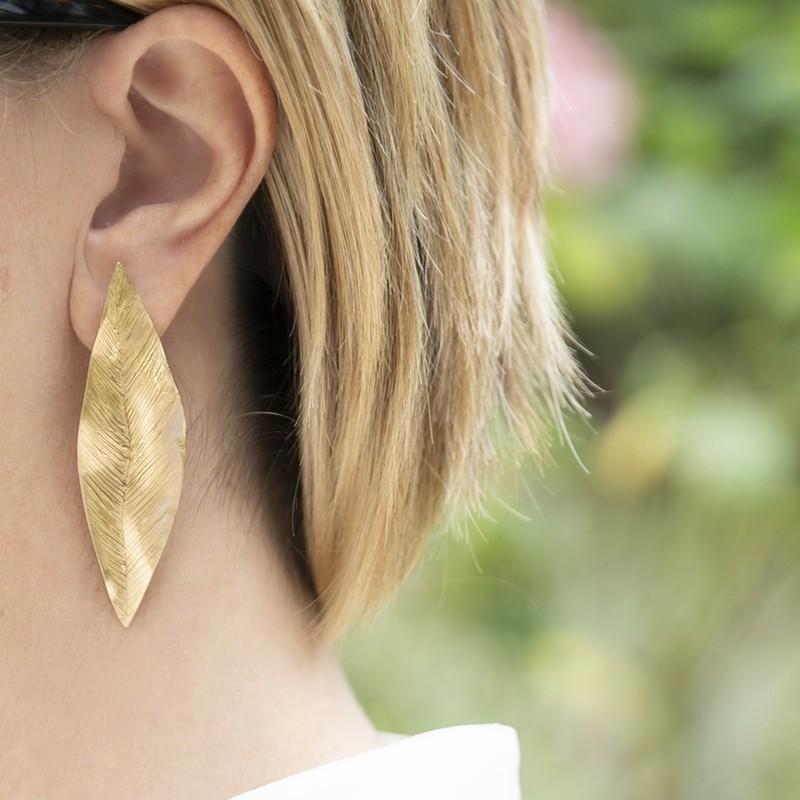 Orecchini Leaves Medium - Giulia Barela Jewelry