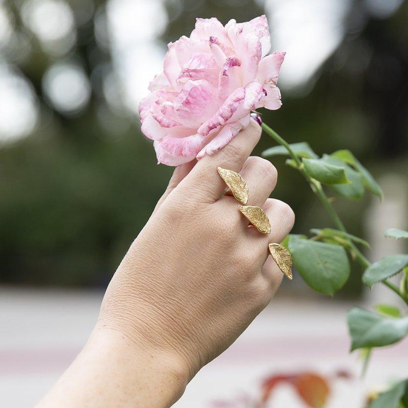 Anello Leaves - Giulia Barela Jewelry