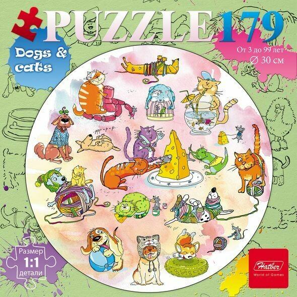 круглый пазл Забавные животные №2 179 деталей
