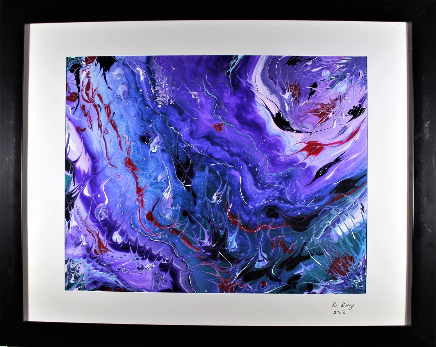 """16 X 20 ORIGINAL ABSTRACT PAINTING: """"SOARING AMID THE STORM"""""""