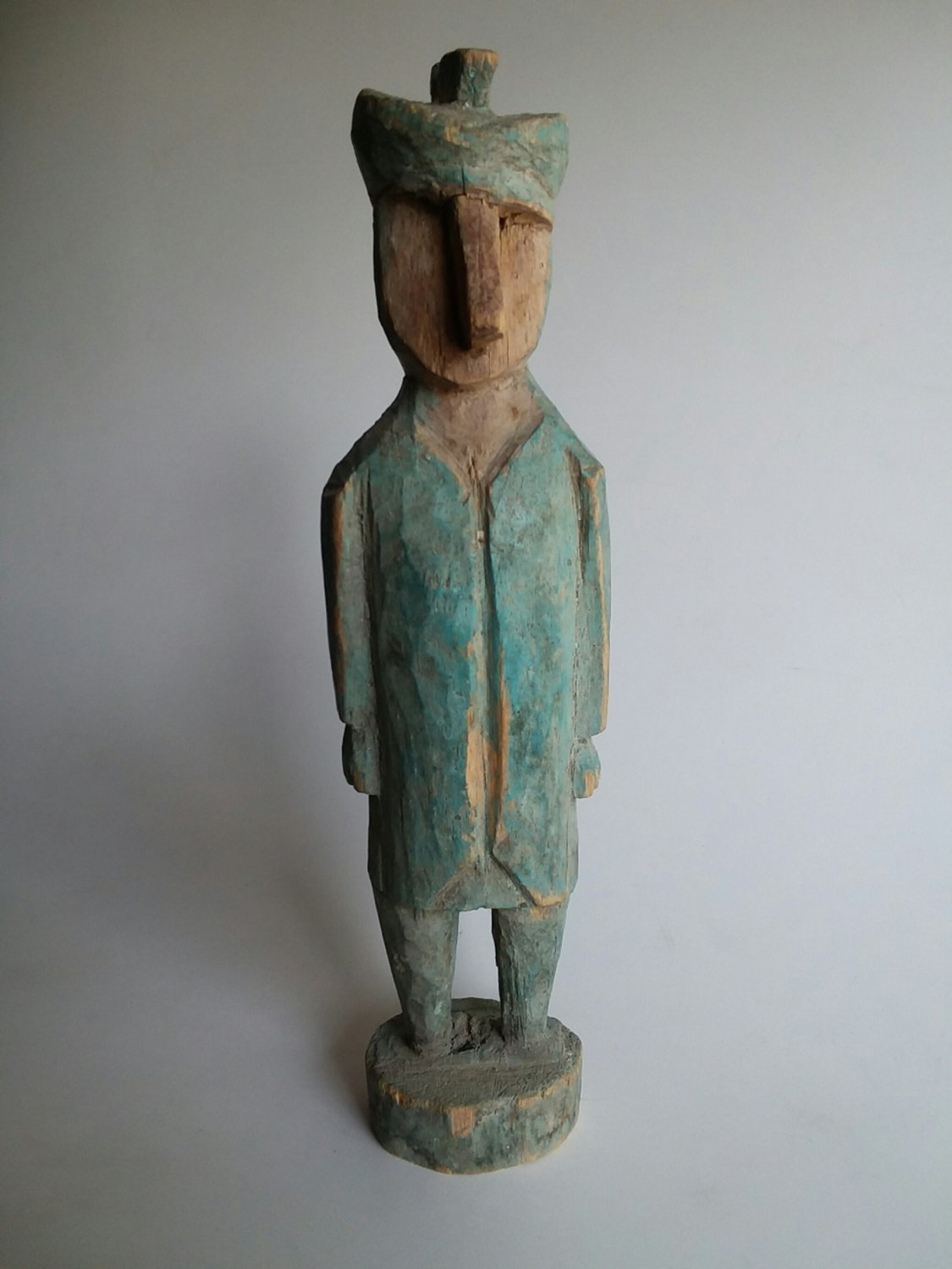 Folk art carved wood figure