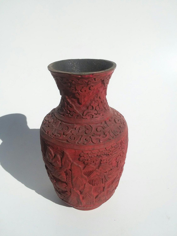 Cinnebar Vase