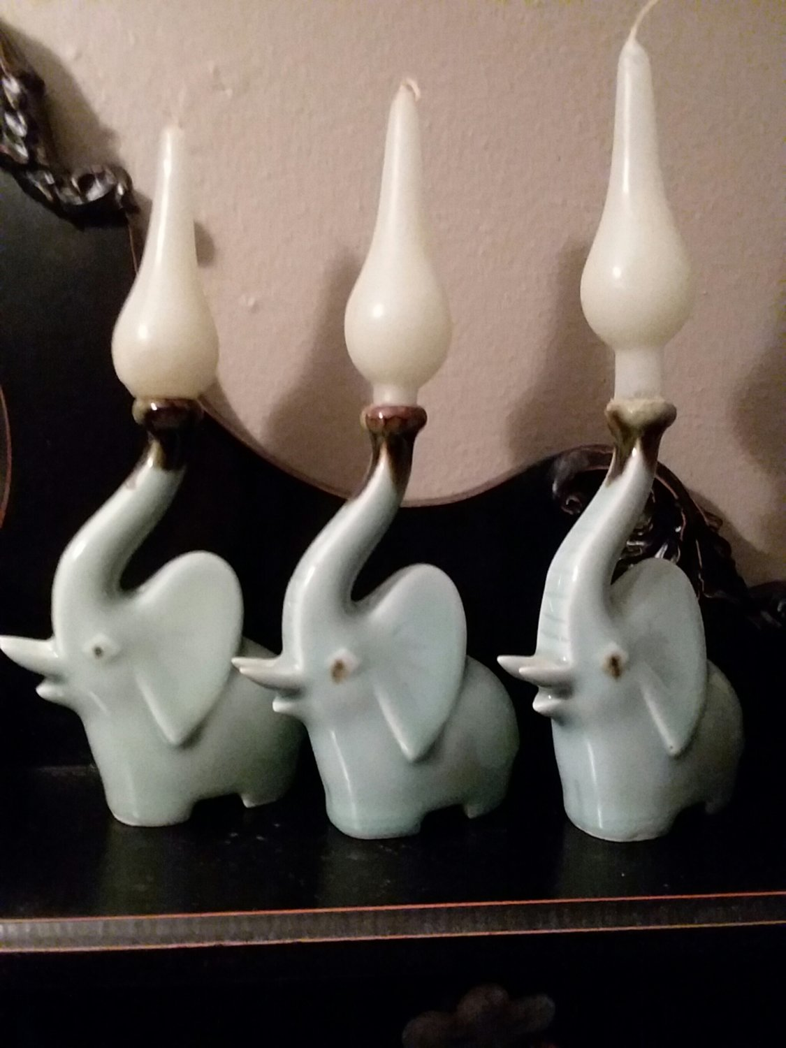 Celedon ceramic jade Elephants