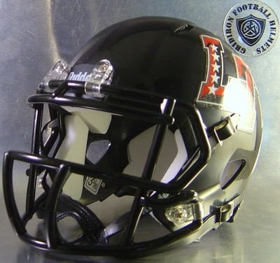 Austin Lake Travis Cavaliers HS 2015-2016 (TX)  (mini-helmet) 5 Stars on LT side Decals