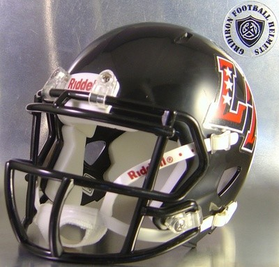 Austin Lake Travis Cavaliers HS 2010 (TX)  (mini-helmet) 3 star LT side decals