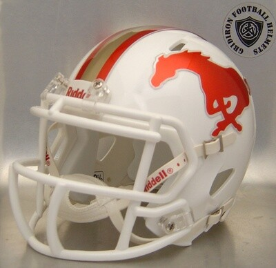 Coronado Mustangs HS 2017 (TX) Chrome Decals (mini-helmet)
