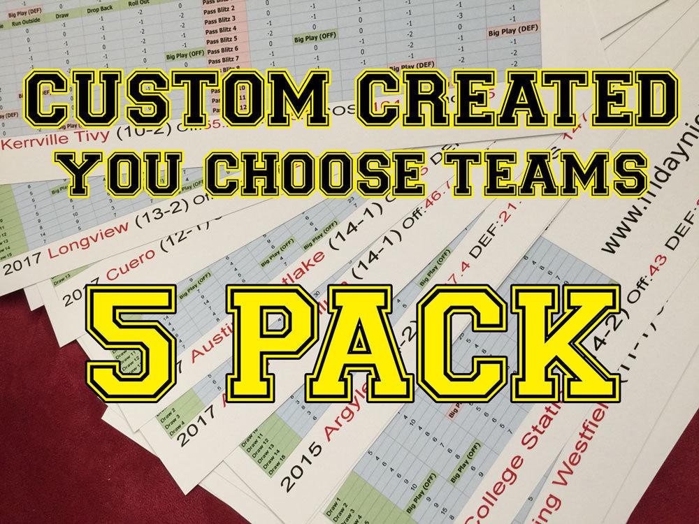 Custom Created 5-Pack