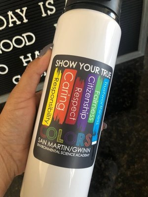 Show Your True Colors Water Bottle
