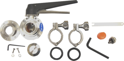 AK2 - Combo 6-Bolt Flange Accessory Kit 2 in. (Includes VF2, BV4 and SV3)