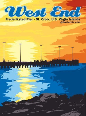 Poster: West End, Frederiksted Pier
