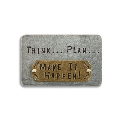 THINK, PLAN MAKE IT HAPPRN INSPIRE CARD