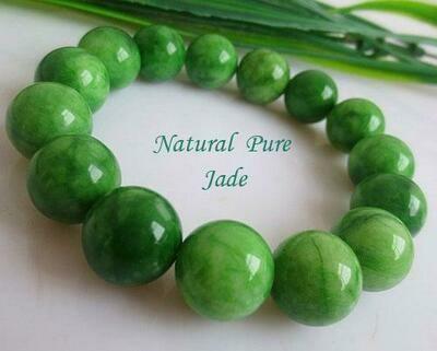 Natural Pure Green Jade Charm Bead