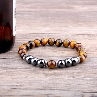 Hematite Tiger Eye Stone Bracelet